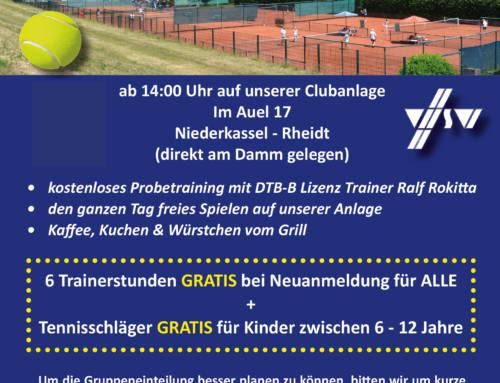 Einladung zum Tag der offenen Tür der Tennisabteilung